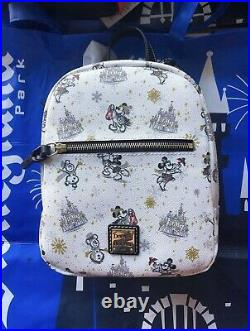 Disney Parks 2020 Dooney & Bourke Christmas Holiday Backpack Bag IN HAND NWT
