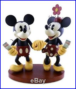 Disney Parks 20 Medium Big Fig Figurine Pie Eyed Minnie and Mickey Mouse NEW