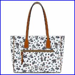 Disney Parks Dooney & Bourke MICKEY AND MINNIE MOUSE AMERICANA Tote Bag NEW