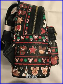 Disney Parks Excl Loungefly 2019 Christmas Mickey Snacks Food Mini Backpack NWT