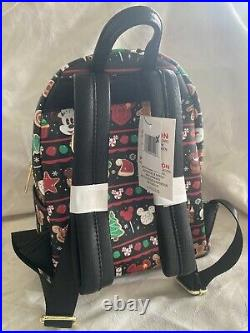 Disney Parks Loungefly Christmas Holiday 2019 Black Snacks Food Icons Backpack
