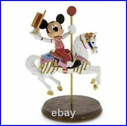 Disney Parks Mickey Mouse & Jingles Carousel Horse Medium Big Figure Statue New