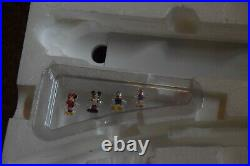 Disney Parks Monorail Train Playset Green Stripe Complete Working With Characters