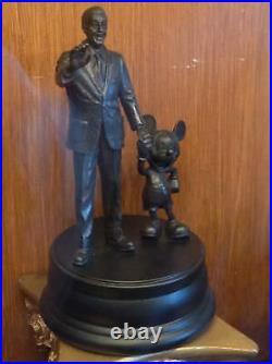 Disney Parks Walt Disney & Mickey Mouse Partners Bronze Figure Statue New