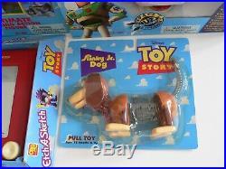 Disney Pixar Toy Story 1995 Thinkway Toys Large Lot 9 MIB Figures Buzz Woody