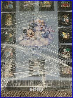 Disney WDW Where Dreams Come True HapPin Figment Framed Pin Set LE 50 Mint