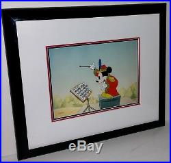 Disney cel mickey mouse band concert hors de commerce edition & binder page cell