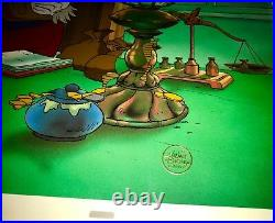 Disney mickeys christmas carol cel scrooge mcduck rare animation edition cell