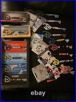 Disney store Key lot of 21 Mickey Minnie Woody Xmas D23 Frozen Mando Widow