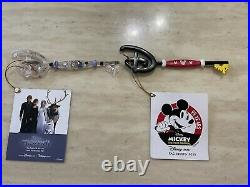 Disney store key mickey mouse 90th and olaf