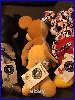 Disney store mickey mouse memories plush January December Full Set Inc Card