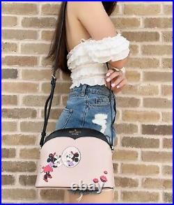 Disney x Kate Spade Minnie Mouse Dome Leather Crossbody Bag Handbag Purse