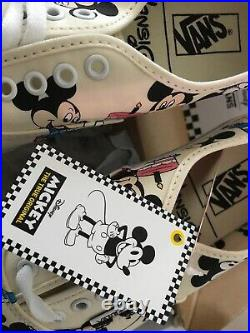 Disney x Vans Mickey Mouse 90th Anniversary Birthday Shoes 8.5 Mens RARE