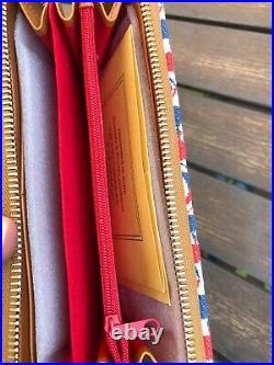 Dooney & Bourke Disney Mickey Mouse Americana July 4th Wallet Bag Wristlet Purse
