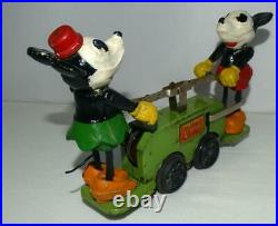 Ex! All Orig. Green Vs. Disney 1934 Lionel Mickey Mouse Hand Car+boxed Set+track