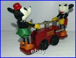 Ex. /n. Mint Disney 1934 Working Lionel Mickey Mouse Hand Car+box Set+track+key