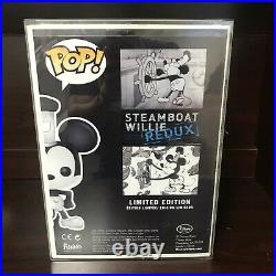 FUNKO POP! Disney Steamboat Willie 9 Redux 2013 D23 1/250 LE