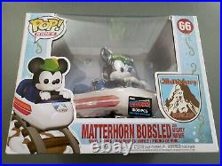 Funko Pop Matterhorn Bobsled And Mickey Mouse Limited 1/1500 NYCC Exclusive #66