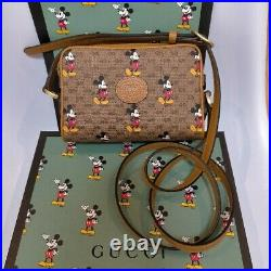 GUCCI Disney Mickey Mouse Collaboration Shoulder Bag Canvas Leather Limited Rar