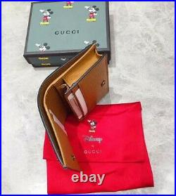 Gucci GG Supreme Disney Mickey Mouse Card Case Wallet For Women