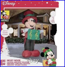 HUGE Disney Mickey Mouse Colossal Airblown 14.5 Ft /14 Inflatable Yard Music