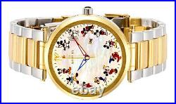 INVICTA 36mm Disney MICKEY MOUSE 90th Anniversary Womens Pearl/Oyster/Stainless