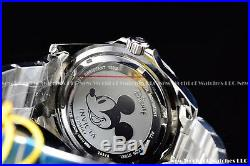 Invicta 45mm Pro Diver Disney Limited Ed. Mickey Silver Dial Bracelet SS Watch