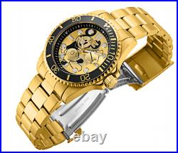 Invicta Disney Limited Edition Men's 43mm Gold Mickey Mouse Dial Watch 32441
