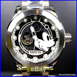 Invicta Disney Mickey Mouse 50mm Stainless Steel Automatic Black LE Watch New