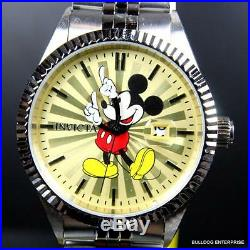 Invicta Disney Mickey Mouse Stainless Steel Champagne Limited Edition Watch New