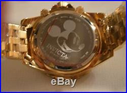 Invicta Limited Edition Disney Mickey Mouse Gold Stainless Men's Watch 27376 NEW