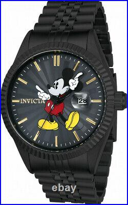 Invicta Men's 43mm Disney Limited Edition Mickey Mouse Dial Black Watch