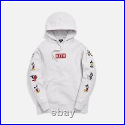 Kith X Disney Mickey Sleeve Patches Hoodie Heather Grey Size L In Hand