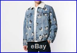 LEVIS x DISNEY Mickey Mouse Denim Sherpa Jacket sz XXL disneyland vtg rare jean