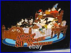 LE Disney Pin SUPER JUMBOMickey Anniversary Steamboat Willie Sorcerer Hat RARE