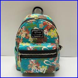 LOUNGEFLY NWT RARE Disney Moana, Pua, Hei Hei Mini Backpack Retired