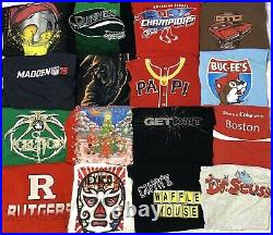 Lot of 70 Vintage/Retro/NEW Graphic T-Shirts Sports Movie Comic Book Video Game