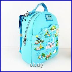 Loungefly Disney Disneyland 65th Anniversary Convertible Mini Backpack + Wallet