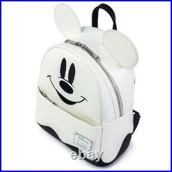 Loungefly Disney Ghost Mickey Mini Backpack Glows In Dark + Pumpkin Wallet NEW