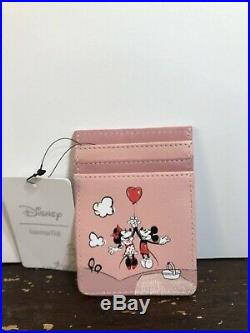 Loungefly Disney Mickey Minnie Mouse Balloon Mini Backpack Cardholder Set NWT