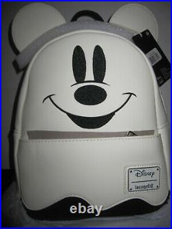 Loungefly Disney Mickey Mouse Boo Glow In The Dark Ghost Backpack