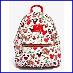 Loungefly Disney Mickey Mouse Holiday Treats Mini Backpack Nwt Presale