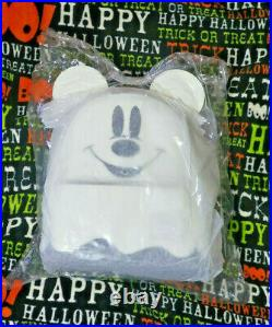 Loungefly Ghost Mickey Mouse Mini Backpack Disney Halloween GLOW IN THE DARK