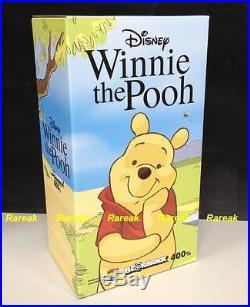Medicom Be@rbrick 2014 Disney 400% Winnie The Pooh Bearbrick 1pc