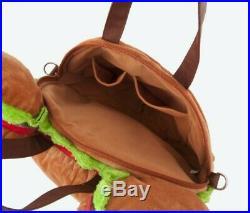 Mickey Mouse Hamburger Tote Bag Burger Tote Tokyo Disney Limited 2 way