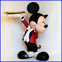 Mickey Mouse Life Size Butler Very Rare Rarität Walt Disney Maus Statue