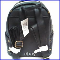 Mickey Mouse Mini Backpack Black Quilted Gold Mickey Disney & Loungefly SEALED