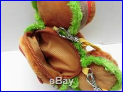 Mickey Mouse hamburger Tote bag and Pass Case Coin Case Tokyo Disney Resort