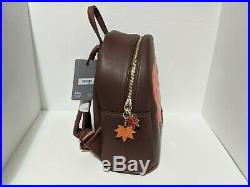 Mickey & and Minnie Mouse Autumn Fall Leaves Loungefly Bag Mini Backpack NWT