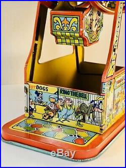 Mint 1950's Disney/Mickey Mouse Ferris Wheel Vintage tin wind up toy by J. Chein